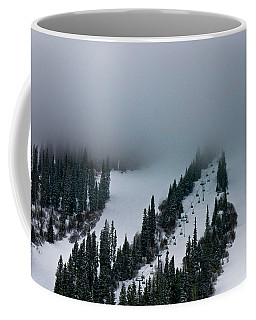 Foggy Ski Resort Coffee Mug by Eti Reid