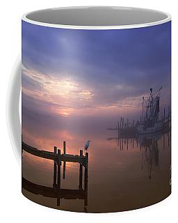 Foggy Sunset Over Swansboro Coffee Mug