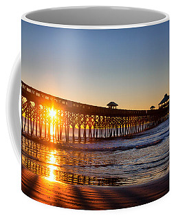 Folly Beach Pier At Sunrise Coffee Mug