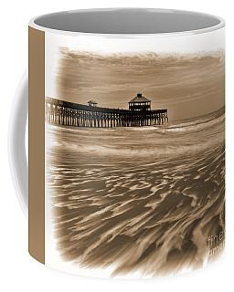 Folly Beach Pier Toned Coffee Mug