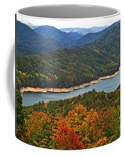 Fontana Lake In Fall Coffee Mug