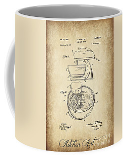 Food Mixer Patent Kitchen Art Coffee Mug by Clare Bevan