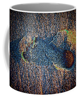 Coffee Mug featuring the photograph Foot In The Sand by Mariola Bitner
