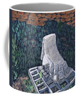 Foot Statue-caesaria Coffee Mug