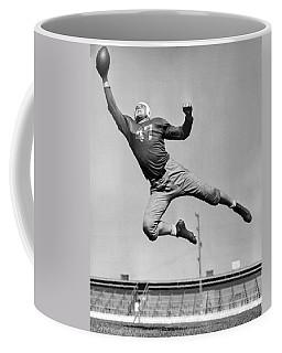 Football Player Catching Pass Coffee Mug
