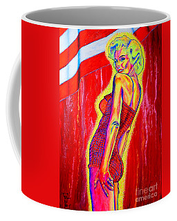 Coffee Mug featuring the painting for ever...M.M. by Viktor Lazarev
