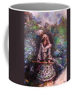 Coffee Mug featuring the painting For Grandma by Laurie Lundquist