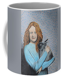 Coffee Mug featuring the painting For The Love Of Bunny by Jeanne Fischer