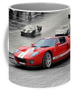 Ford Gt And Gt40 1966 Le Mans Win Coffee Mug by Christopher McKenzie