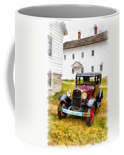 Ford Model A Watercolor Coffee Mug