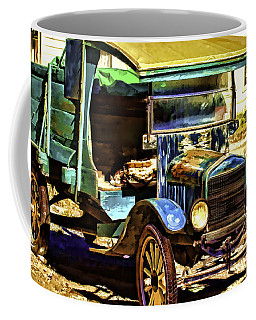 Coffee Mug featuring the painting Ford by Muhie Kanawati