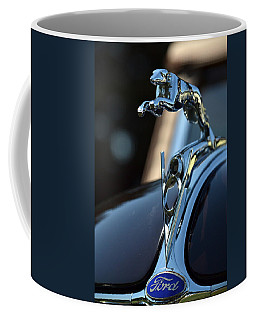 Coffee Mug featuring the photograph Ford V-8 Hood Ornemant by Dean Ferreira
