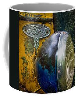 Ford V8 Emblem Coffee Mug by Paul Freidlund