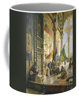 Forecourt Of The Ummayad Mosque, Damascus, 1890 Oil On Panel Coffee Mug