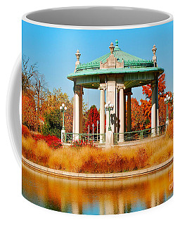 Coffee Mug featuring the photograph Forest Park Gazebo by Peggy Franz