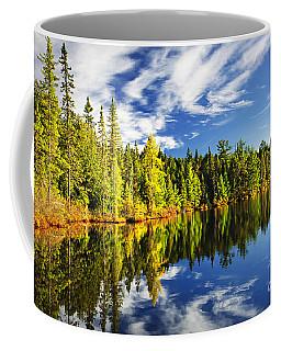 Forest Reflecting In Lake Coffee Mug
