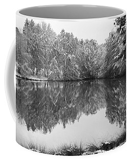 Coffee Mug featuring the photograph Forest Snow by Miguel Winterpacht