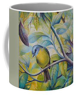 Coffee Mug featuring the painting Forest Song by Elena Oleniuc