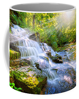 Forest Stream And Waterfall Coffee Mug by Alexey Stiop