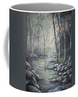 Forest Stream Coffee Mug by Megan Walsh