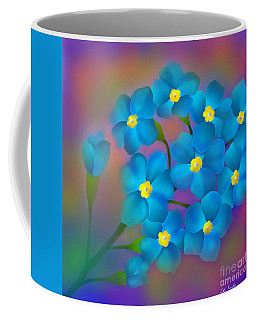 Forget- Me -not Flowers Coffee Mug by Latha Gokuldas Panicker