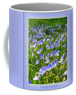 Forget Me Not Coffee Mug by Leone Lund