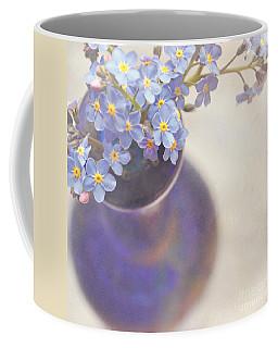 Forget Me Nots In Blue Vase Coffee Mug