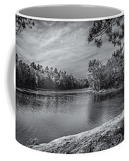 Fork In River Bw Coffee Mug