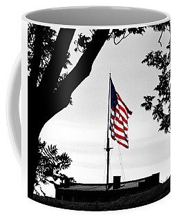Fort Mchenry Flag Color Splash Coffee Mug by Bill Swartwout