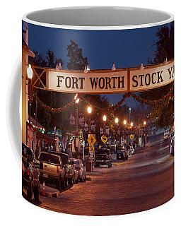 Fort Worth Stock Yards Night Coffee Mug