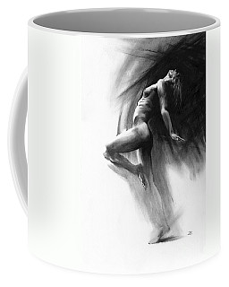 Coffee Mug featuring the drawing Fount by Paul Davenport