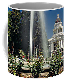 Fountain In A Garden In Front Coffee Mug