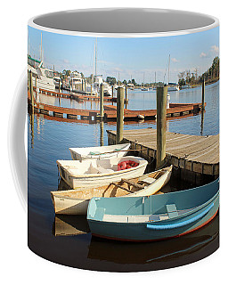 Coffee Mug featuring the photograph Four Boats  by Cynthia Guinn