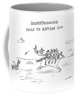 Four Cowboys Ride A Running Horse Coffee Mug