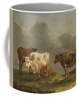 Four Cows In A Meadow Coffee Mug