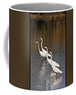 Four Egrets Fishing Coffee Mug by Tom Janca