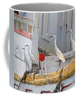 Four Egrets Watch For Fish Coffee Mug