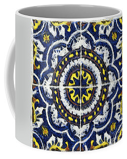 Four Painted Tiles-mexico Coffee Mug by Michael Flood