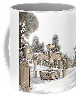 four seasons-winter on lake Como Coffee Mug