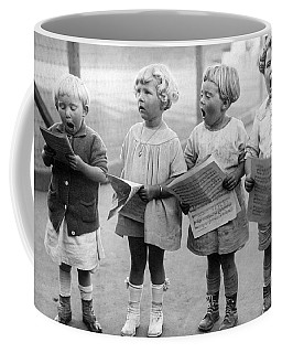 Four Young Children Singing Coffee Mug