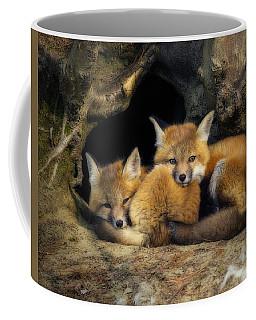 Best Friends - Fox Kits At Rest Coffee Mug