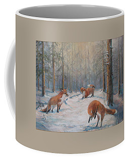 Forest Games Coffee Mug by Donna Tucker