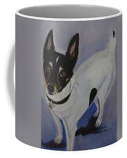 Coffee Mug featuring the painting Foxy by Sharon Schultz