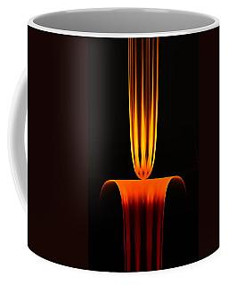 Coffee Mug featuring the digital art Fractal Flame by GJ Blackman