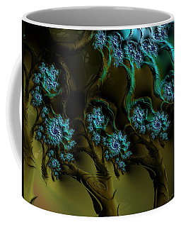 Fractal Forest Coffee Mug by GJ Blackman