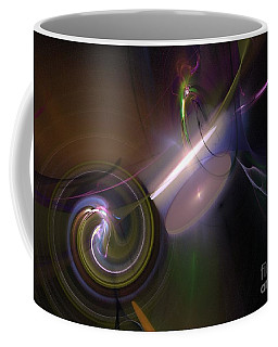 Coffee Mug featuring the digital art Fractal Multi Color by Henrik Lehnerer