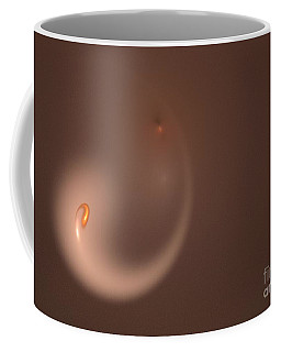 Coffee Mug featuring the digital art Fractal Orange Flair by Henrik Lehnerer