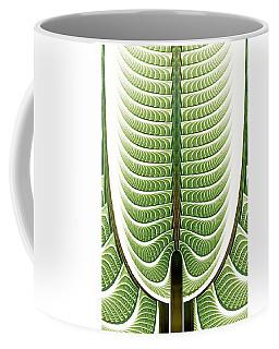 Coffee Mug featuring the digital art Fractal Pine by Anastasiya Malakhova