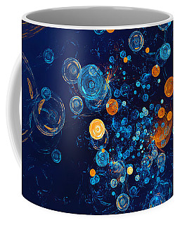 Fractal Soapbubbles - Abstract In Blue And Orange Coffee Mug
