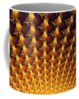 Fractal Yellow Golden And Black Firework Coffee Mug